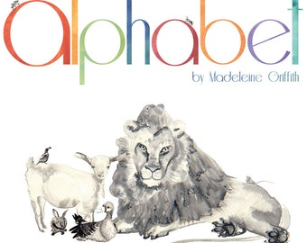 Alphabet ABC book -Bulk, stack of 5-  Hand bound, Illustrated in water colour, pen and ink.