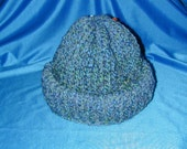Stocking Hat Blue/Green Size Adult Large