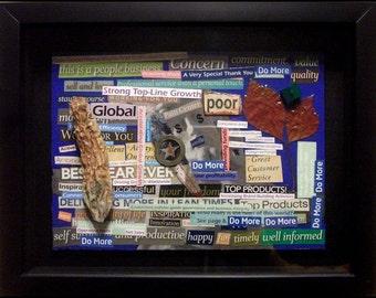 Original mixed-media art collage