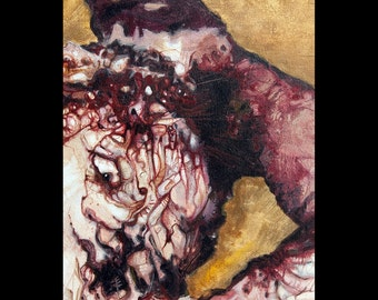 Horror Art - Original Oil Painting of Murder Victim Helen List ...
