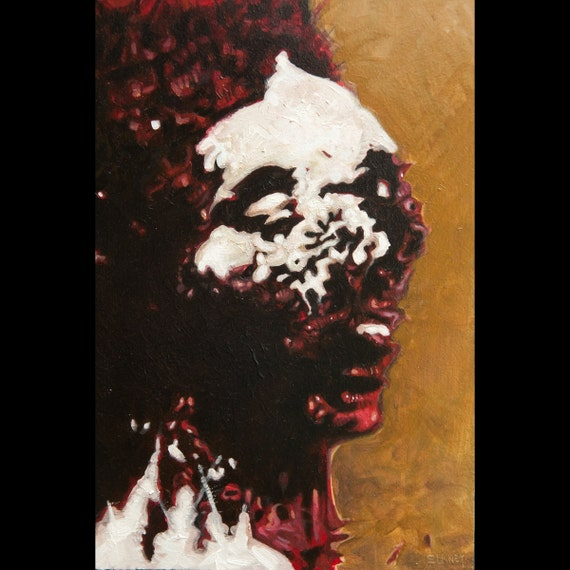 macabre art jack the ripper victim oil painting by