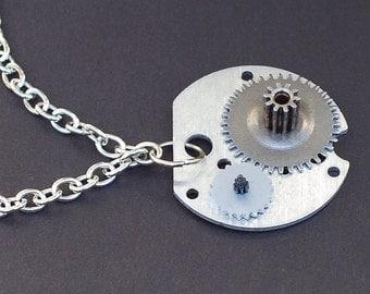 Cyberpunk Choker Necklace- Silver Clock Gears Necklace, Industrial Jewelry, Modern Jewelry, Steampunk Necklace, Steampunk Jewelry