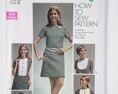 Vintage Simplicity Miss Size 16 Bust 38 pattern 8610 Dress 1969 Bib Dress