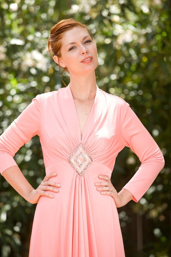 CORAL long sleeve maxi dress