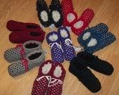 Big Blue Barn Knit Thrummed Slippers