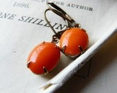 Vintage glass jewel earrings - The pies will follow later