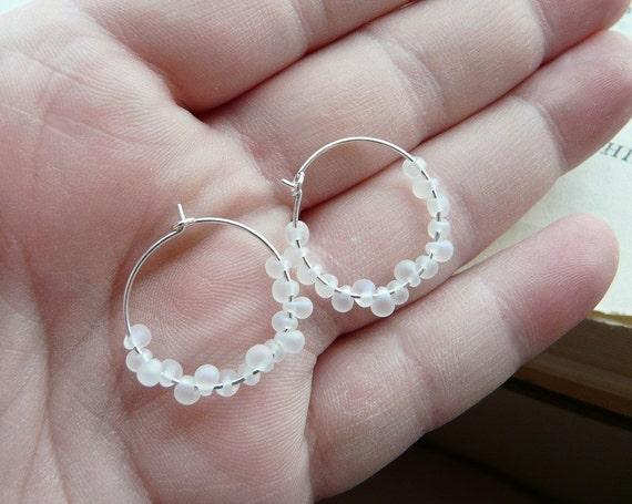 A few more weeks of winter - Petite hoop earrings