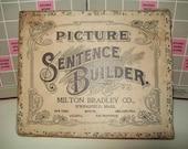 Vintage - Antique  Milton Bradley Game Box  Graphics