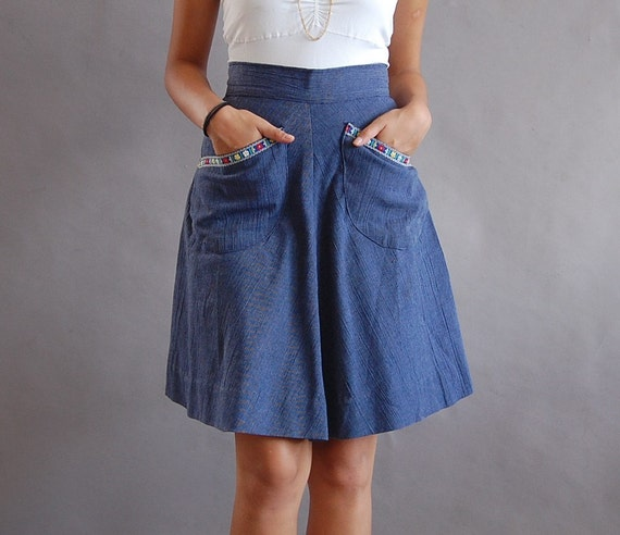 mountain song denim skirt (xs-s)