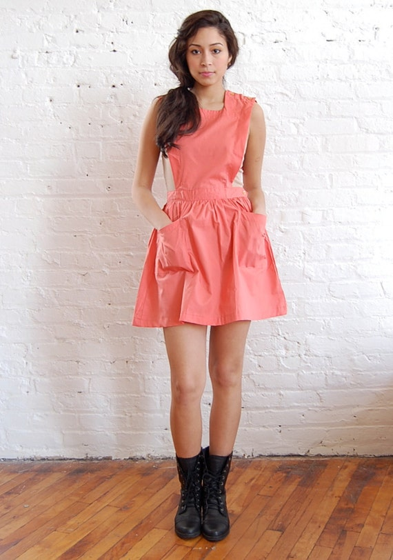 peach bib dress (xs/s)