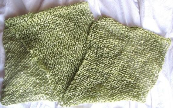 SUPER SALE - Spring Greens Short Soft Scarf