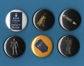Dr. Who set of 6 one-inch magnets
