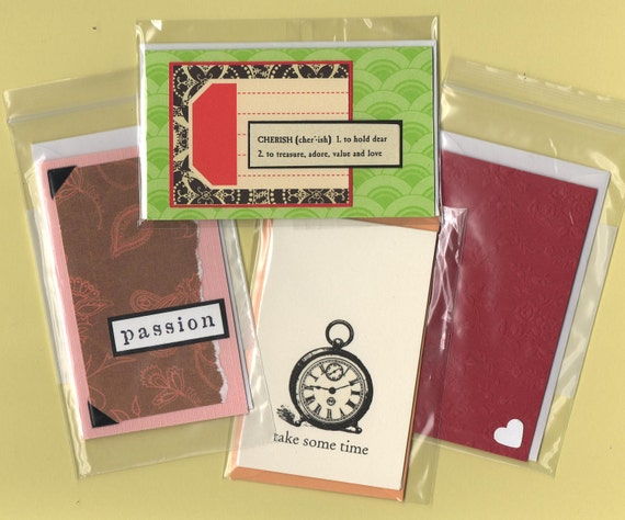 Mini gift cards set of 4