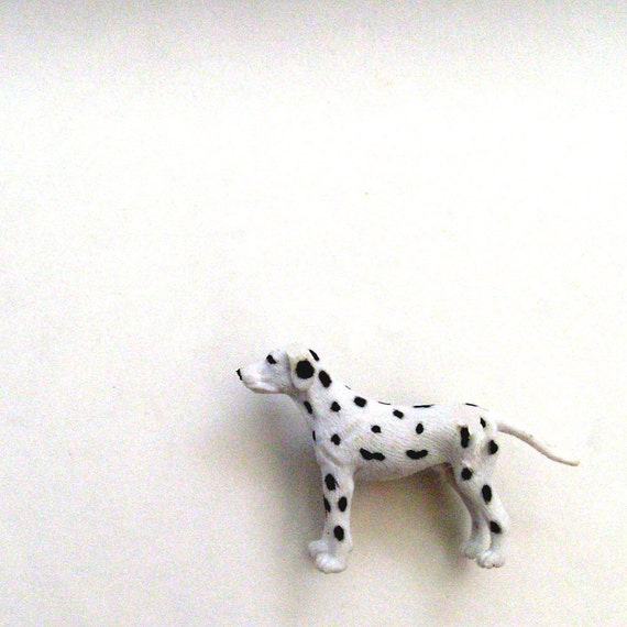 Dalmatian Brooch - Lapel Pin / 3D Black & White Pet Dog Brooch / Black Spots / Gift Under 10 - CLEARANCE