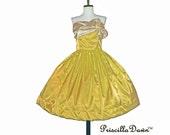 Custom Butter Cream Bow Wrap Dress
