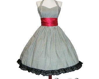 Summer Sale Made to order BROWN Classy Tartan Swing Dress