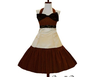 Custom In Your Size Timeless Tartan Steam punk Party Dress with Cream Satin and Lace