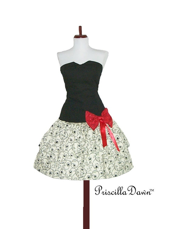 Custom in your size and color French Double Layer Bow Dress