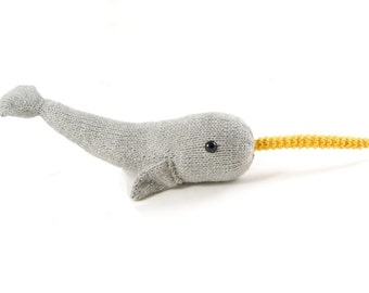 Napoleon the Nervous Narwhal Knitting Pattern Pdf INSTANT DOWNLOAD