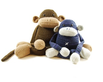 Jerry the Musical Monkey Knitting Pattern Pdf INSTANT DOWNLOAD