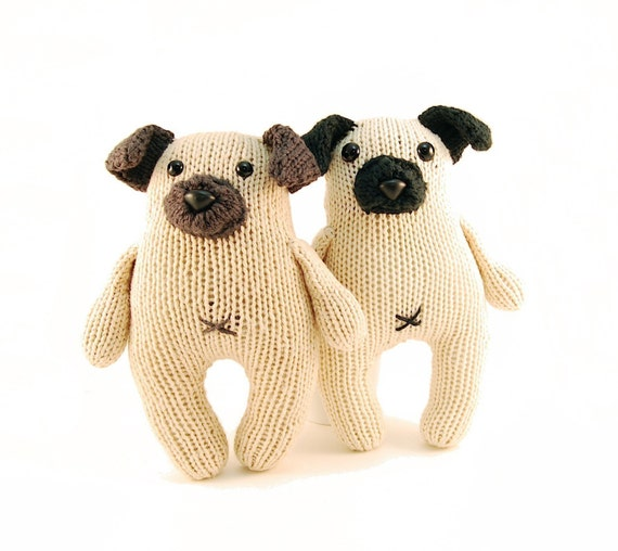 Knitted Pug Pattern : Wasabi the Gregarious Pug Knitting Pattern Pdf