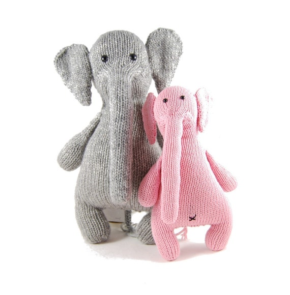 Esther the Eccentric Elephant Knitting Pattern Pdf INSTANT DOWNLOAD