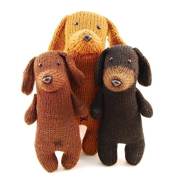 Tofu the Gentle Dachshund Knitting Pattern Pdf INSTANT DOWNLOAD
