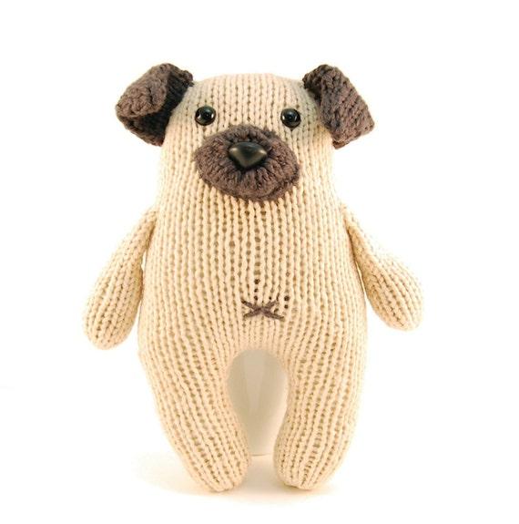 Wasabi the Gregarious Pug Knitting Pattern Pdf INSTANT DOWNLOAD