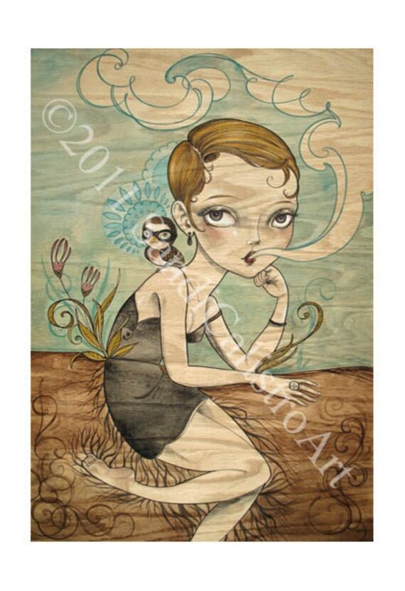 LAST ONE untitled giclee limited edition Sandi Calistro Art