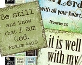 Instant DOwnload - CHRISTian Inspirational (.875 x .875 inch) Images Digital Collage Sheet printable stickers card ephemera gift tag