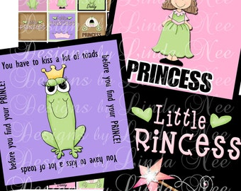 NEW- Fairy Princess (1 x 1 Inch) Images - Digital Collage Sheet printable stickers magnet button wand