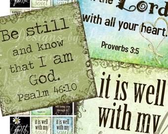 Instant Download - CHRISTian Inspirational (.75 x .83 scrabble inch) Images Digital Collage Sheet  printable stickers card ephemera gift tag