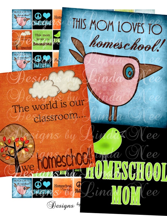 Homeschool Mom Quotes and Sayings- (1 x 1 Inch) Digital Collage Sheet SALE printable stickers cross magnet button