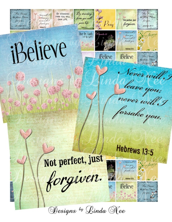 Instant Download - NEW - CHRISTian Scripture 4 (.75 x .83 scrabble inch) Images Digital Collage Sheet  Sale- scrapbooking printable stickers
