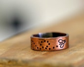 Bee Copper Ring bumble bee (E0173)