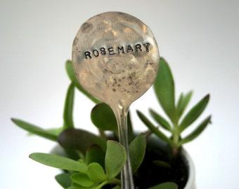 Rosemary Vintage Silverware Garden Marker Plant Stake (E0246)