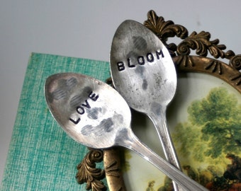 Love and Bloom Vintage Silverware Garden Marker (E0214)