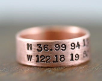 Personalized Copper Ring (E0230)
