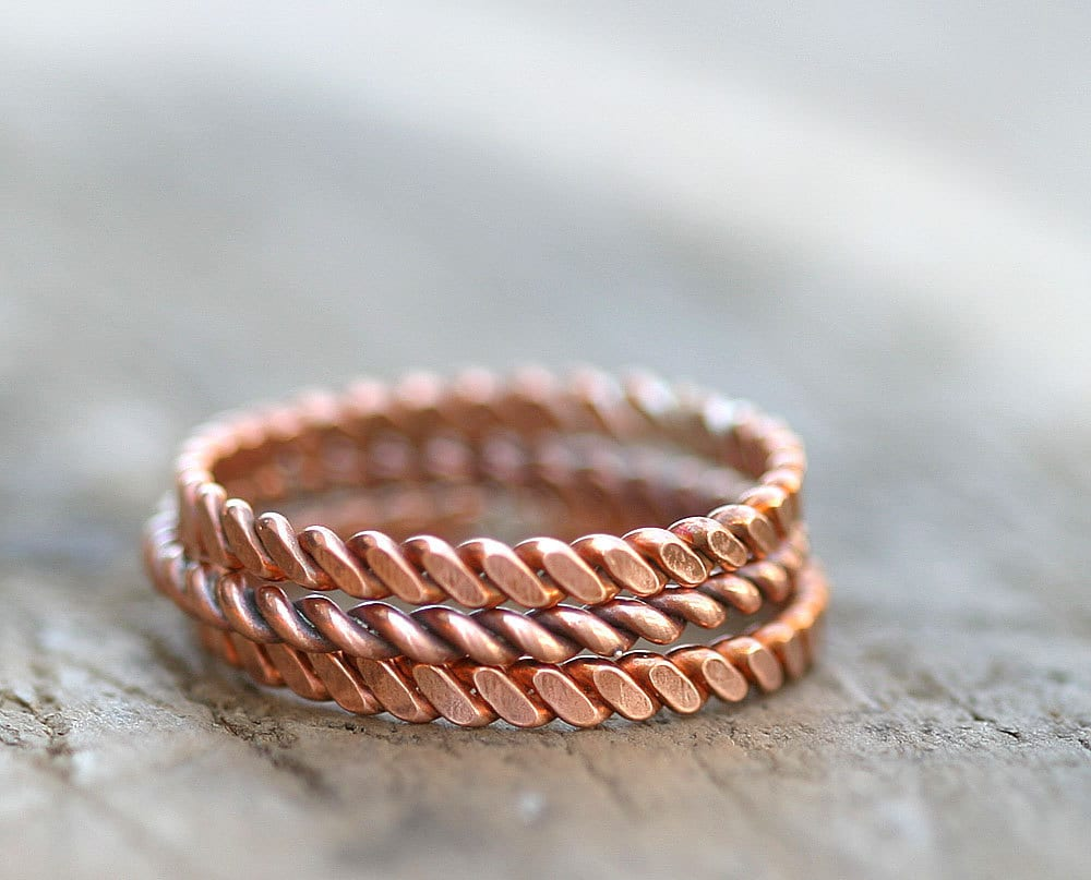 Twisted Copper Stacking Rings E0266. Platinium Engagement Rings. Paper Pieced Wedding Rings. Casual Rings. Multiple Center Stone Wedding Rings. Plain Wedding Rings. Cherry Blossom Rings. Metal Ring Rings. Electroplated Rings