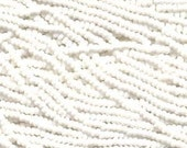 Czech Seed Beads 11/0 Opaque Chalk White 31015 (6 strand hank) Glass Seed Beads, Precoisa Beads, Round Seed Beads, Rocaille Beads