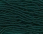Czech Seed Beads 11/0 Transparent Emerald Green 31038 (6 strand hank) Glass Seed Beads, Precoisa Beads, Round Seed Beads, Rocaille Beads