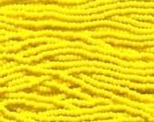 Czech Seed Beads 11/0 Opaque Dark Yellow 31071 (6 strand hank) Glass Seed Beads, Precoisa Beads, Round Seed Beads, Rocaille Bead, Glass Bead