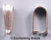 Simple Lines Pinch Bails Sterling Silver 42497 (2) Necklace Bail, Pendant Bail, Sterling Silver Bail Sterling Silver Pinch Bail Jewelry Bail