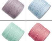 S-Lon Bead Cord Pastels Mixture 0.5mm Diameter 28573 (4 spools) Green S-lon, Kumihimo Cord, Pink Crochet Thread, Macrame Cord, Superlon