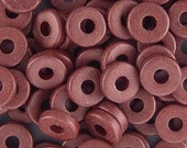 Greek Ceramic 8mm Disk Beads Chocolate 16059