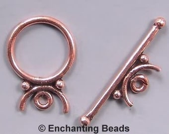 Copper Moon Toggle Clasp 42701 (10) Round Toggle Clasp, Copper Toggle Clasp, Jewelry Clasp