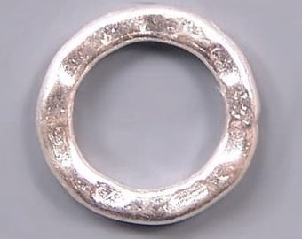 Karen Hill Tribe Silver Hammered Jumprings T499 (2)