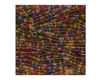 Czech Seed Beads 6/0 Rainbow Mixture 31606 (6 strand hank) 4mm Glass Seed Beads, Precoisa Beads, Round Seed Beads, Rocaille Bead
