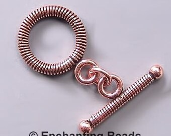 Wrapped Copper 16mm Toggle Clasp 42796 (8)