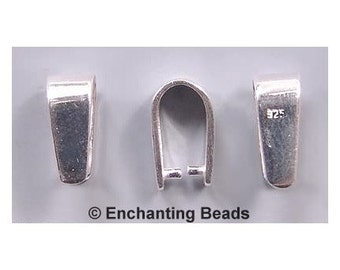 Simple Sterling Silver Pinch Bail 42628 (1) Sterling Silver Bails, Pendant Bails, Necklace Bails, Bails for Necklaces